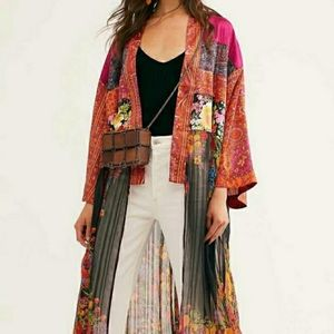 Free People Young Love Floral Kimono Cover Up M/L